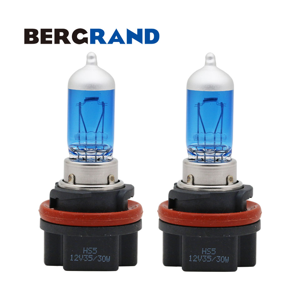 Motorcycle Headlight HS5 35/30W Halogen Lamp 5000K Xenon Gas Filled Headlamp P23t Light Source Hard Glass 2PCS