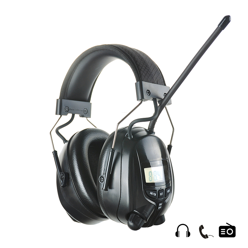 NRR 25dB Adjustable Electronic Hearing Protection AM FM Radio Earmuffs Noise Reduction Shooting Hunting Ear Protector Headset adjustable anti noise head earmuffs noise insulation ear protector nrr 30db for work study shooting woodwork hearing protection