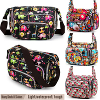 Women Messenger Bags Print Floral Sport Cross Body Shoulder Canvas Bag Nylon Oxford Fabric Women S