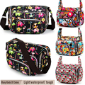 Women Messenger Bags Print Floral Cross Body Shoulder Canvas Hobo Bag Nylon Oxford Fabric Women's Handbag Bolsas Femininas