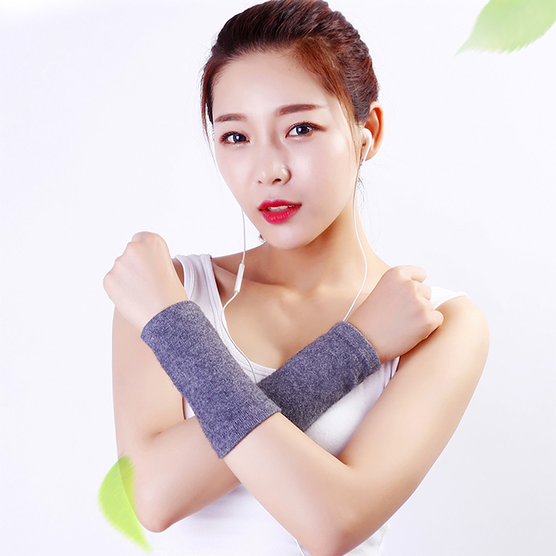 Women's Wrist Arm Band Combing Fine Wool Wrist Support Smooth Soft Knitted Woolen Autumn Winter Arm Wrist Warmers