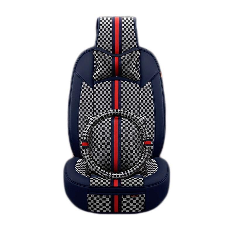6D полный объемный Дизайн автомобилей подушки роскошная классическая сидений автомобиля универсальный сиденье-крышка для седан внедорожни... ...