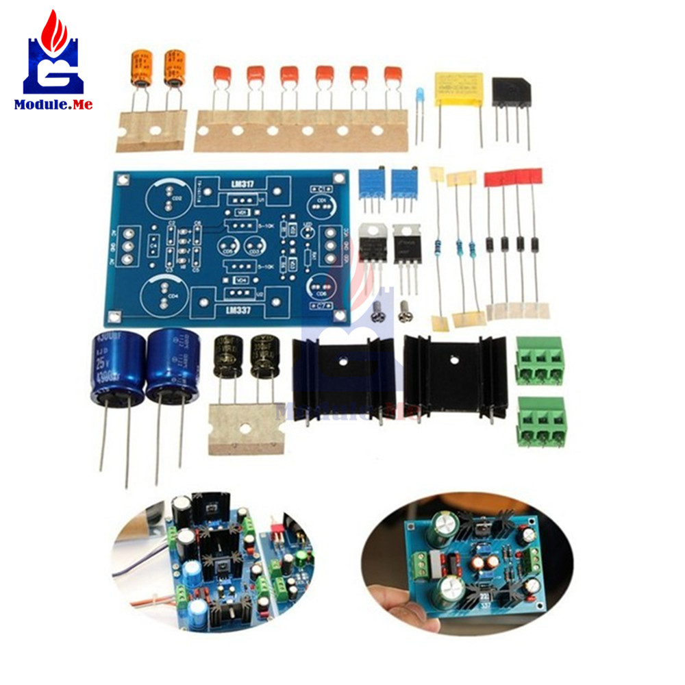 Lm317 Lm337 Adjustable Filtering Power Supply Module Ac Dc Voltage Motor Control Circuit Diagram Current Generator Lm317t Regulator 125 37v Diy Kit In Integrated Circuits From Electronic