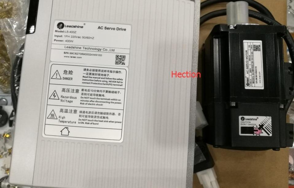 200W Leadshine AC servo motor ACM6002L2H-B0-D-SS17-bit rotary encoder and AC Servo Driver L5-400Z RUN 3000RPM out 0.64NM Torque