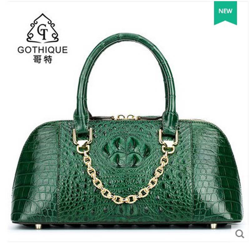 2018 gete new alligator bag women handbag Thai style leather women shell bag with crocodile skin women bag