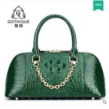gete 2017 new alligator bag women handbag Thai style leather women shell bag with crocodile skin women bag