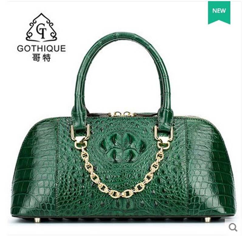 gete 2017 new alligator bag women handbag Thai style leather women shell bag with crocodile skin women bag gete 2017 new crocodile women handbag lady thai crocodile leather women handbag lady handbag women clutch bag