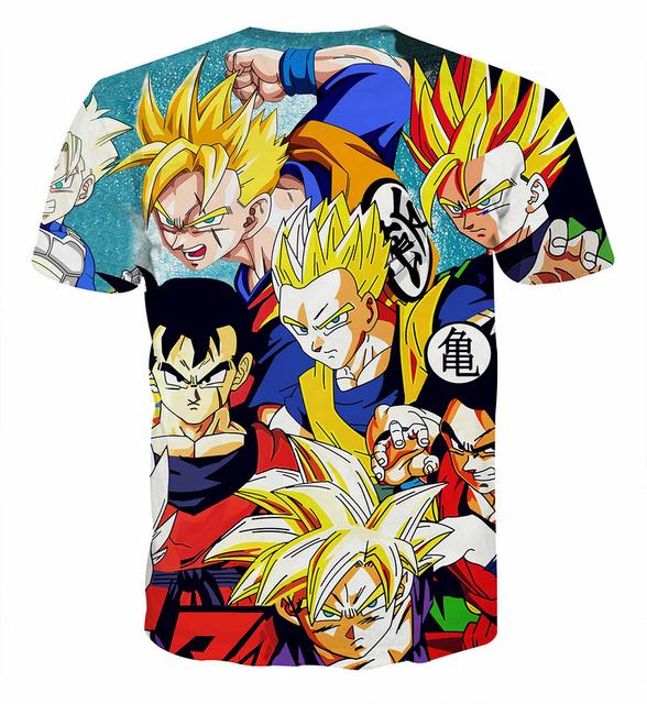 Dragon Ball Z Goku 3D Print Casual Men's T-shirt