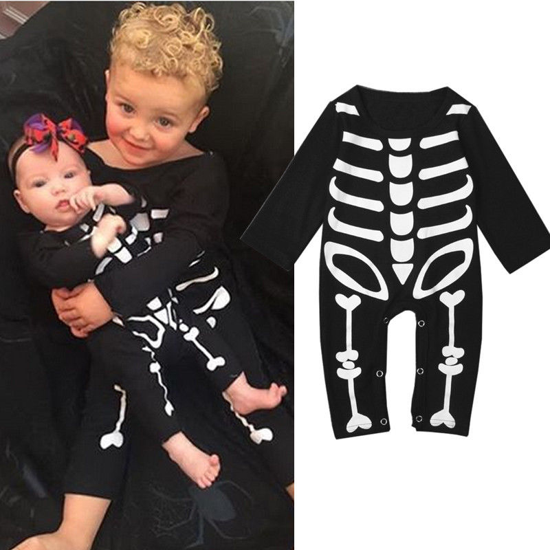 Baby Girl Party Playsuit Newborn Baby Boy Halloween   Rompers   Kids Autumn Outfits Toddler Funny Clothes