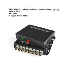 Nowy 8CH Wideo 8V1D optyczny czystego wideo digital Video converter Optical światłowody video nadajnik optyczny + RS485 tanie tanio Optyczny Nadajnik i Odbiornik DVNOAH Black 12V1A Multimode ≤ 1KM singlemode ≤ 25KM