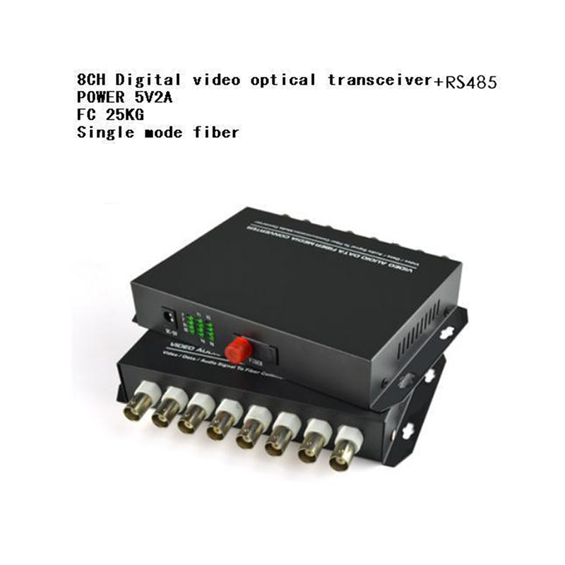 The New 8CH Video 8V1D Optical Pure Video  Digital Video Optical Converter Fiber Optic Video Optical Transmitter+RS485