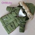 Cold Winter Boys Hooded Parka Childen Winter Jackets Children Down Jackets Coats Kids Baby Thicken Warm Cotton Down Jacket