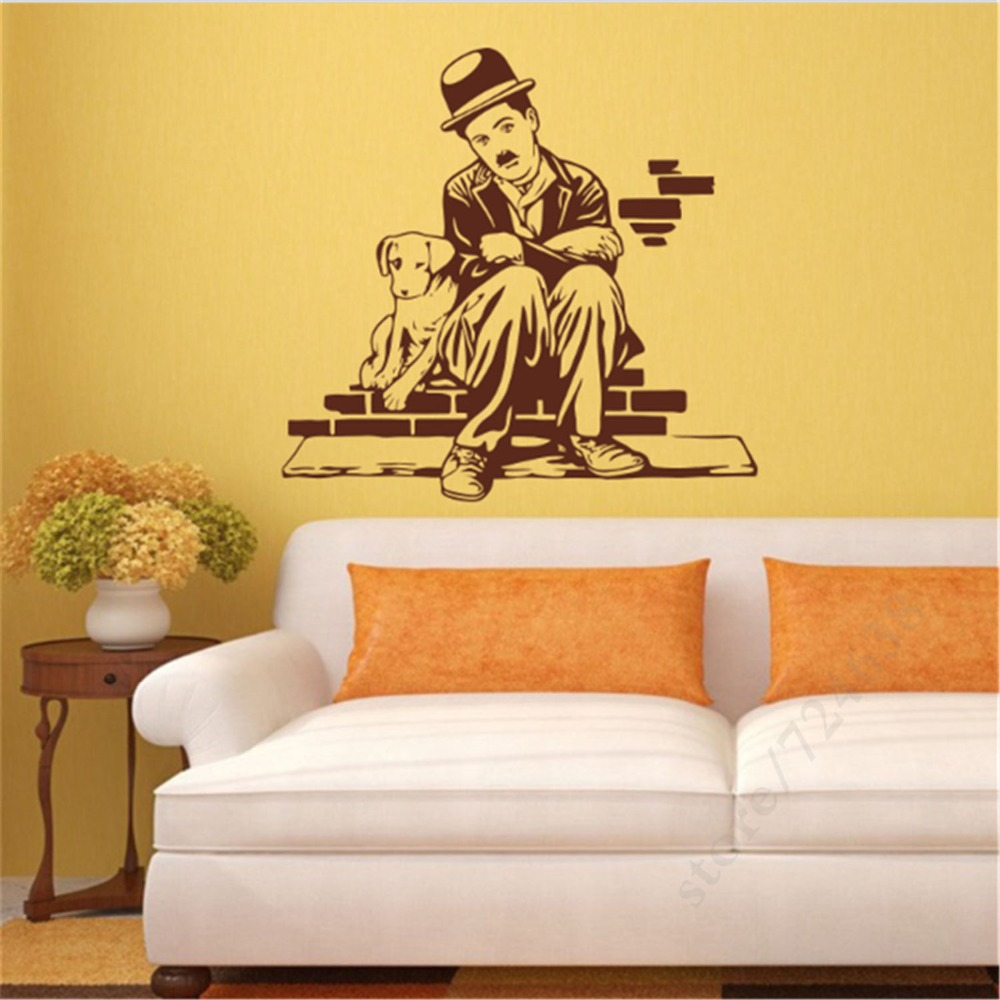 Aliexpress.com : Buy Man Dog Wall Sticker DIY Wall Decals Easy Wall ...