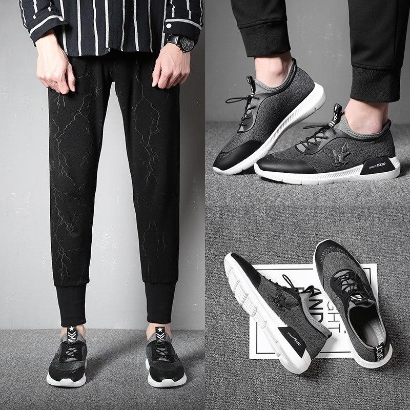 Chaussures Lumière Mycoron Luxe Pu Gris Mode Hommes Nouvelle Arrivée Marque De Fond Confortables Maille Tissu rouge Casual Respirant 34AjLcq5R