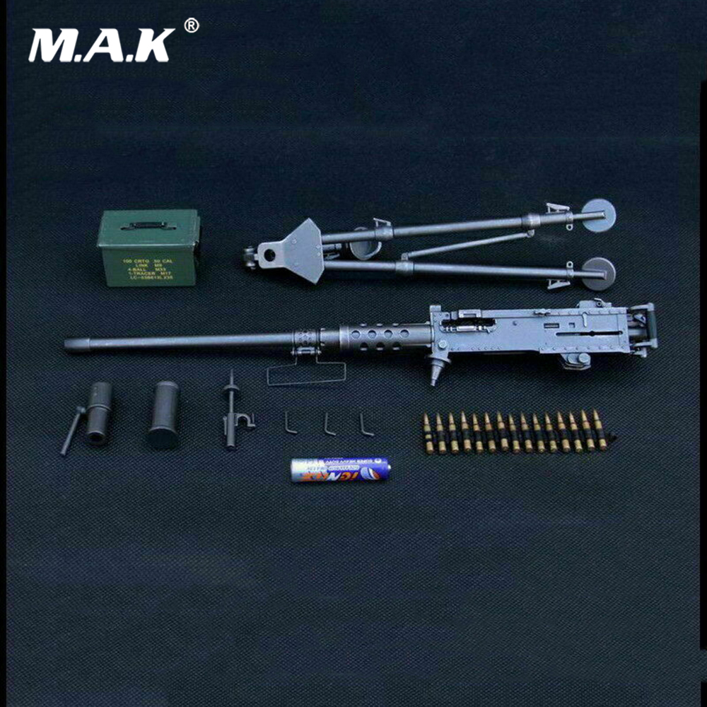 1 6 soldado figura cena acessorios m2 browning maquina arma modelo zy8031 preto deserto cores arma