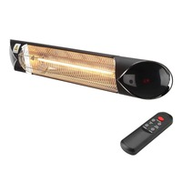 2000W Electric Outdoor Panel Strip Heater Modern Design 4 Power Setting Patio Heater Heating up to 18sq