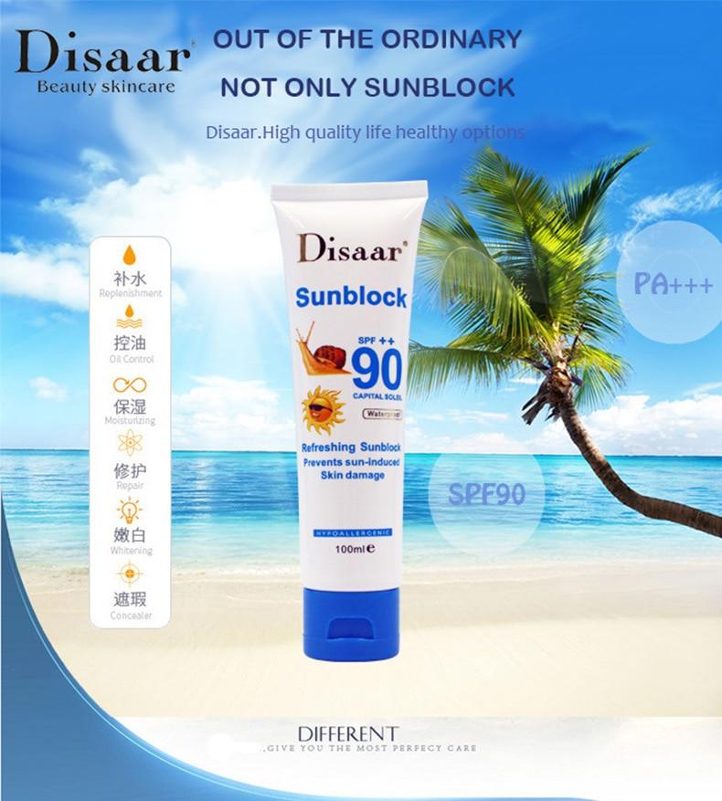 10pcs lot Disaar sunblock cream spf 90 Sunscreen skin Repair Whitenning lightening lotion protetor solar para