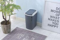 Kitchen trash can Household press trash can Bathroom trash can kitchen plastic rectangular trash can 3