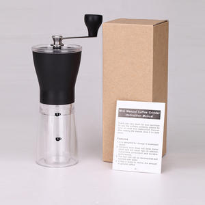 Image 5 - RU Verschiffen TUANSING Manuelle Kaffeemühle Waschbar ABS Keramik core Edelstahl Küche Mini Manuelle Hand Kaffeemühle