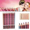 12 pcs Multicolor Party Queen Lip Liner Pencil Functional Eyebrow Eye Lip Makeup Waterproof Colorful Cosmetic Lipliner Pen