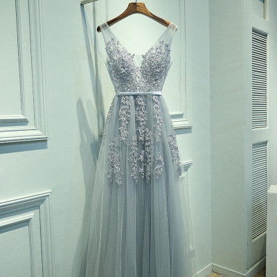Sleeveless Vintage Lace Gowns