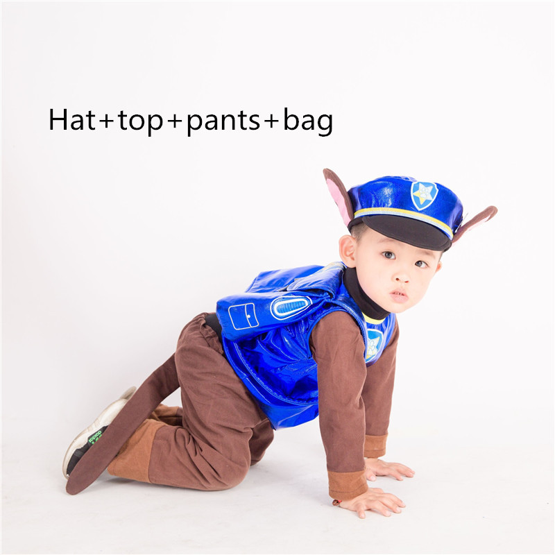 Anime Call Wang Wang Team Suit For Boy Clothing Set Dog Cheas Cosplay Costume Children Kid Patrol Dog Cartoon Party Girl