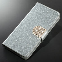 Luxury Fashion Sparkling Case For Huawei Honor 7 8 9 10 Lite 7X 8X 5C Cover Flip Book Wallet Design(China)