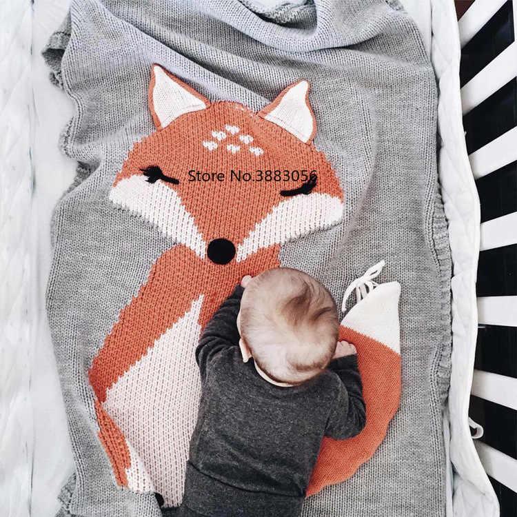Мультяшный медведь, лиса, кролик, животное, симпатичное одеяло для малыша, кидает на диван/кровать/самолет, путешествия, пледы, горячая Ограниченная серия, одеяло из шерсти для пикника