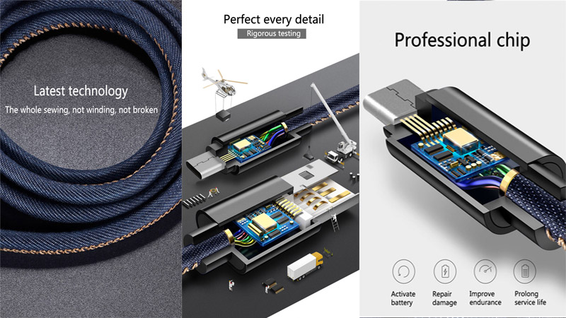 1M/3ft אביב מפותל USB זכר ל-מיקרו USB כבל מאריך נייד נשלף נתונים אחראי קו iPhone7/Sumsung החכם