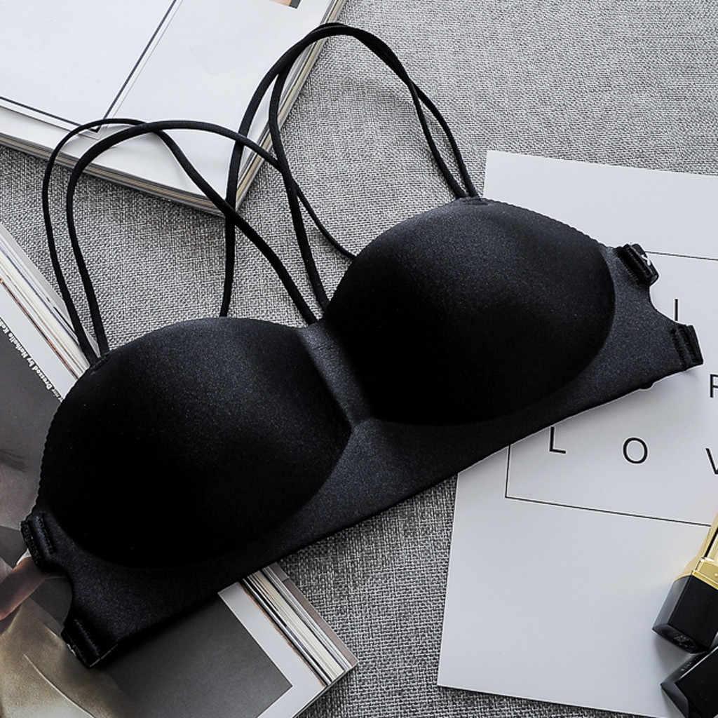 女性のブラジャー女性のセクシーなワイヤレスブラトップベスト通気性胸パッド着てスポーツ UnderwearLadies ブラジャー Stanik dla kobiet Y503