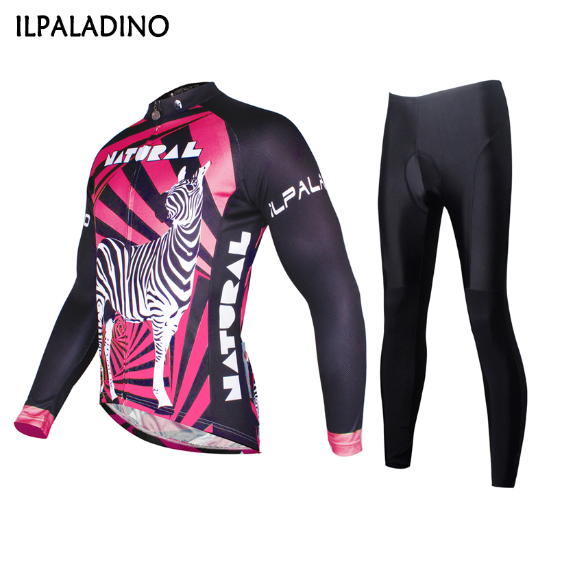 ILPALADINO Men Horse Breathable Cycling Clothing Long Sleeve Bike Bicycle Jersey Pants Set Quick Dry Sportswear Outdoor Wear teleyi men cycling jersey bike long sleeve outdoor bike jersey bicycle clothing wear breathable padded bib pants set s 4xl