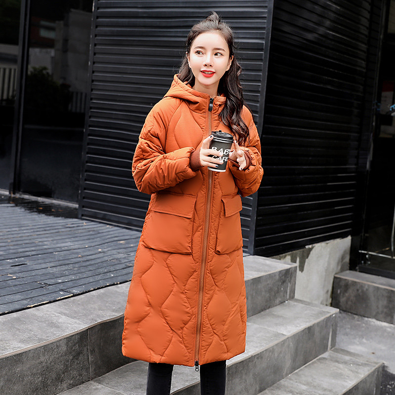 Women   Parkas   2019 New Loose Cotton Jacket Medium Long Winter Coat Solid Color Large Size Warm Down Cotton Outerwear Women TTT171