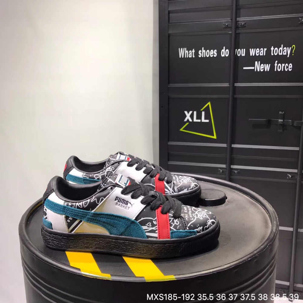 032f029dd4fc1d free shipping Original 2018 new Puma women s leather graffiti sneakers  Badminton Shoes Size 36-39