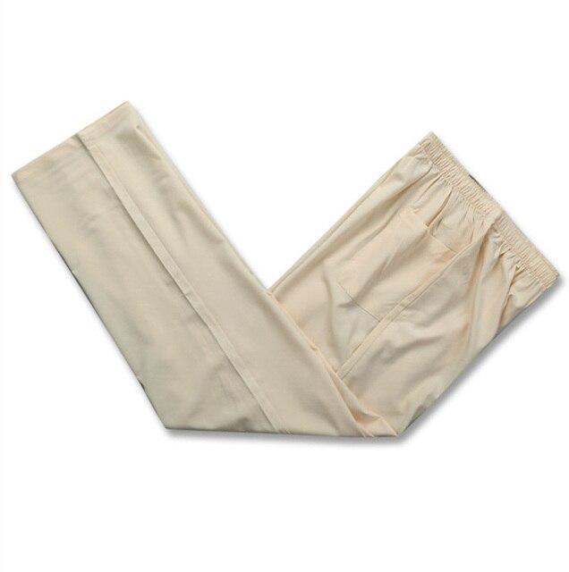 Los Hombres de color beige Pantalones de Kung Fu Tradicional estilo Chino Pantalones de Primavera y Otoño Tamaño Ml XL XXL XXXL HCP002A
