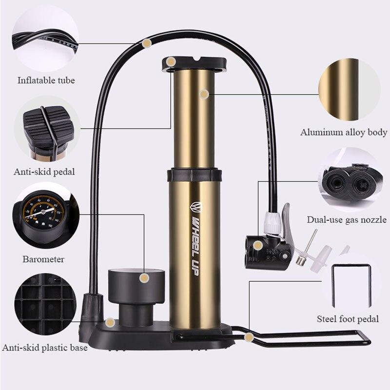 RAD UP Fahrradpumpe Manometer Tragbare Ultraleichte Pumpe - Radfahren - Foto 2