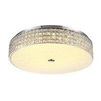 12W 30W LED Modern Luxury Crystal Circular Ceiling Lamp Simple Living Room Bedroom Flush Mount Light