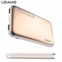 USAMS 10000mAh Power Bank Dual USB Universal Mobile Phone Portable Charger Powerbank External Battery Backup 2017