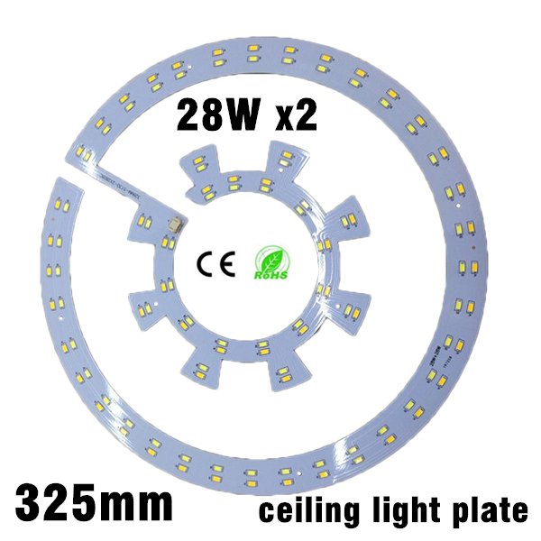 28w x2 smd 5730 ceiling light PCB Retrofit Magnet Board LED Ring Light Panel Remoulding Plate With driver And magnet screw 20pcs 12w led light panel smd 5730 ic driver pcb input voltage ac110v 130v needn t driver aluminum plate free shippping