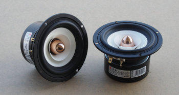1PCS Audio Labs 4inch Full Frequency Speaker Driver Unit Magnetism Shielded White Paper Cone Aluminum Bullet 4/8ohm Option 25W 2pcs new aucharm 8f 1 8inch full frequency speaker driver unit casting aluminum frame wool leather surround 8ohm 20w d210mm