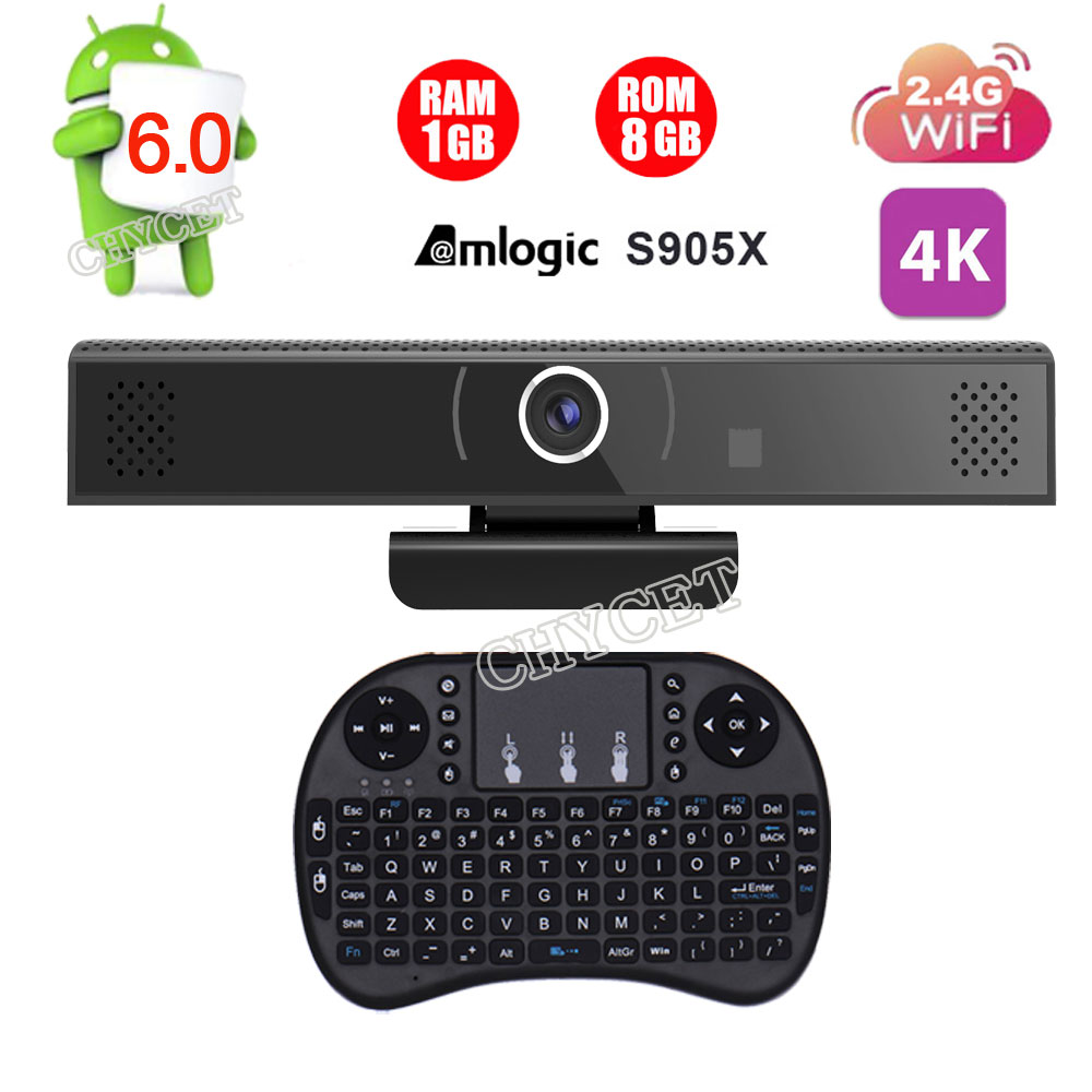 HD3S Tv Box  Amlogic S905X Quad Core TV Box 1GB 8GB Android 6.0 HDMI Smart TV Box HD Camera Build-in mic and speaker audio DSP asus k751sj ty033d [90nb07s1 m00600] black 17 3 hd p n3700 8gb 1tb gf920m 1gb dvdrw dos