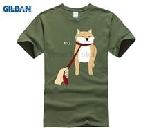 T-Shirt Summer Style Men T Shirt Cute Shiba Inu Nope - Doge Meme T-shirt B  Hot mens