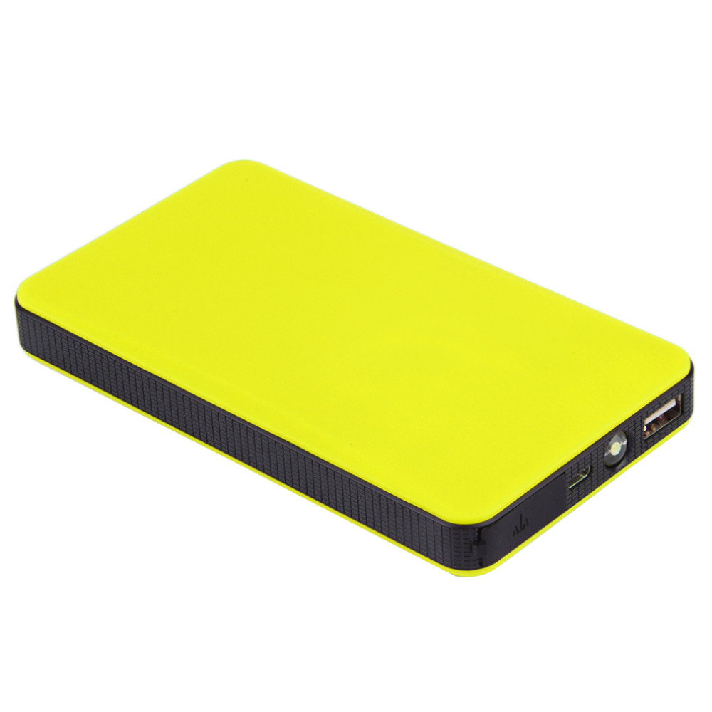 Utral-thin Car Jump Start 20000mAh 12V Auto Engine EPS Emergency Start Battery Source Laptop Portable Charger green super 68800mah car jump starter auto engine eps emergency start battery source laptop portable charger mobile power bank