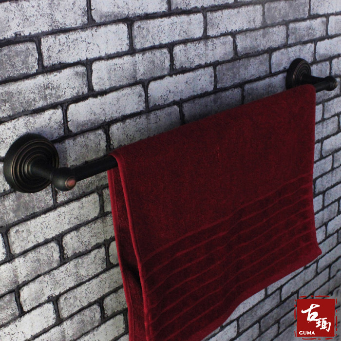Single tier towel bar matt single pole black antique copper bathroom accessories luxury - k101