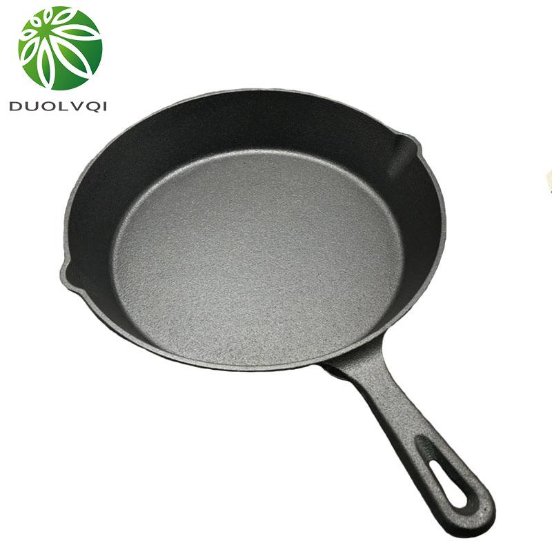 Duolvqi Black Mini Not Sticky Casting Iron Pan Stone Layer Frying Pot Saucepan Small Fried Egg Pot Use Gas And Induction Cooker