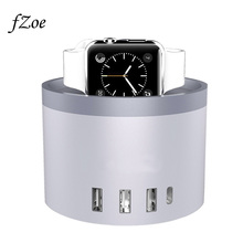 fZoe Cellular Cellphone Charger 5-Port 30W USB Desktop Charging Stand For Apple Watch Collection 3/2/1 /iPhone X /8 /Eight Plus Dock Station