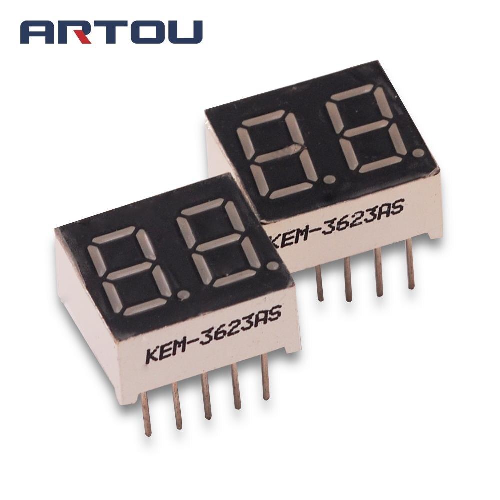 10PCS/LOT Common Cathode 2Bit Digital Tube 7 Segment 0.36