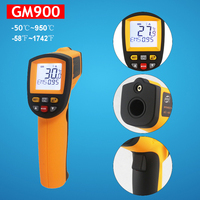 Laser infrared thermometer GM900 Non Contact LCD display IR Infrared Digital Temperature Gun Thermometer Termometro M