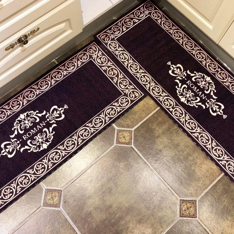 Tapis de sol tapis salon paillasson tapis de bain couloir tapis de cuisine Absorption d'eau tapis de chambre antidérapant Style européen