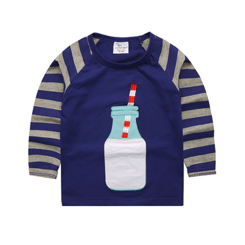 Brand New boys Girls Tshirt baby clothes autumn cotton long sleeve kids top applique child clothes fashion o-neck kids Tees Tops женская футболка other t tshirt 2015 blusas femininas women tops 1