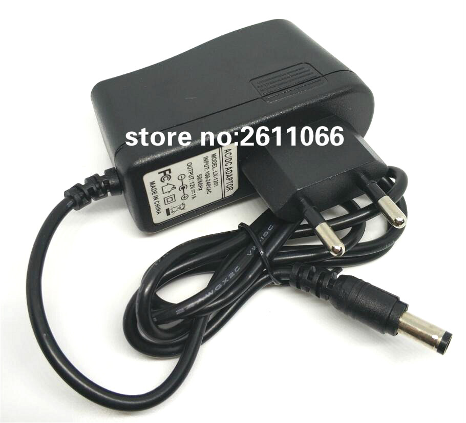 12V1A New AC 100V-240V Converter power Adapter DC 12V 1A 1000mA Power Supply Adapter EU Plug DC 5.5mm x 2.1mm(2.5mm)